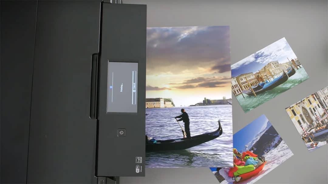 Epson Expression XP960 next to color prints