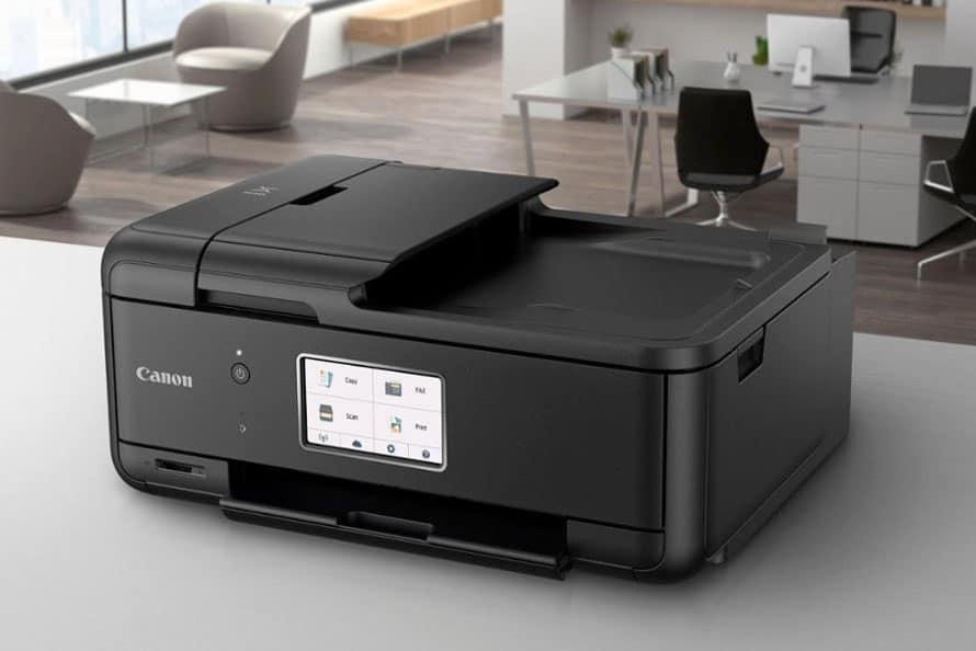 TR8520 printer on a desk