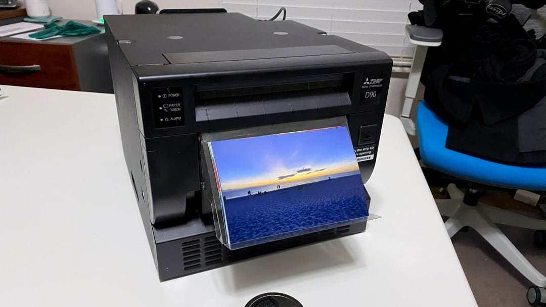 mitsubishi cp d90dw printer